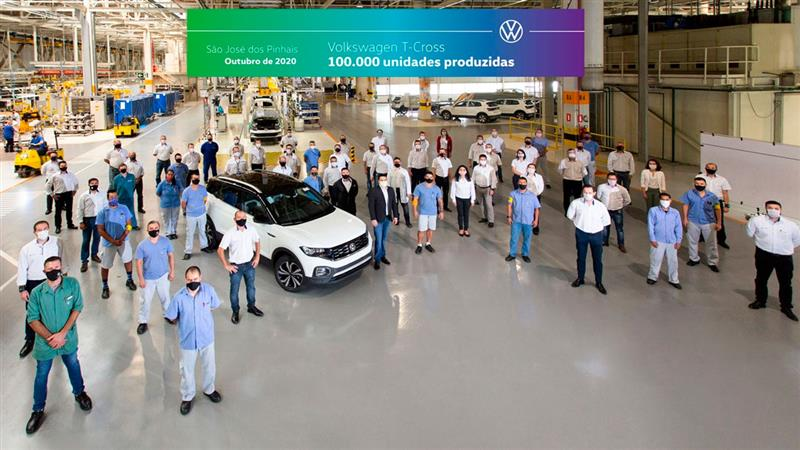 VW T-Cross chega a 100 mil unidades produzidas no Brasil